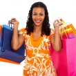 Casual woman with shopping bags — Stockfoto