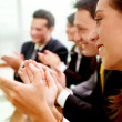 Business team clapping — Stock Photo
