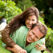 Happy couple outdoors — Stock Photo #7768331