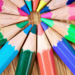 Colour pencils close up — Stock Photo