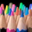 Colour pencils on black — Stock Photo #7768357