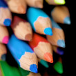 Royalty-Free Stock Photo: Colour pencils on black