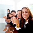 Royalty-Free Stock Photo: Business team clapping