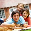 happy family at home — Stock Photo #7768372