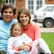 Happy family at home — Stock Photo #7768379