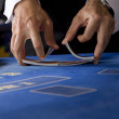 Shuffling cards - Stock Photo