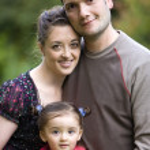Beautiful family outdoors — Stock Photo