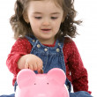 Child saving money — Stock Photo
