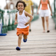 Happy kid running — Stock Photo