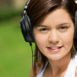 Girl listening to music — Stock Photo #7768442