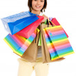 Casual girl with shopping bags — Stock Photo