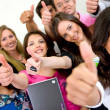 Stock Photo: Group of students - success