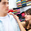Man shopping for clothes — Stock Photo