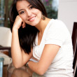 Casual woman at home — Stockfoto