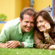 Happy couple outdoors — Stock Photo #7768672
