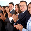 Business team clapping — Stock Photo #7768680