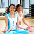 Girls at the gym - yoga — Stock Photo