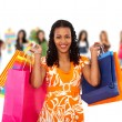 Groupe de femmes shopping — Photo