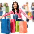 Stock Photo: Group of women shopping