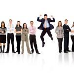 team di business - uomo in piedi — Foto Stock