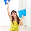 Female student with notebooks — Foto de stock #7768810