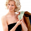 Elegant shopping woman — Stock Photo
