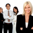 Business woman leading a team — Stock Photo #7768858