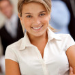 Friendly business woman portrait - Foto Stock