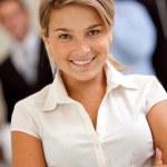 Friendly business woman portrait — Stock Photo