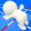3D person practicing high jump — Stock Photo #7768891