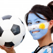 Argentinean football fan - Foto Stock