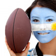 Argentinean rugby fan — Stock Photo