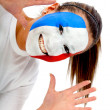 French football fan — Stock Photo