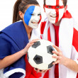 Stock Photo: Football fans