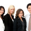 Business man with a female team — Stock Photo