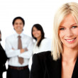 Business woman with a group — Stock Photo #7769029