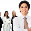 Business man with a group — Stock Photo #7769031