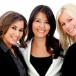 Business women smiling - Stock Photo