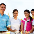 Group of golf player — Stock Photo