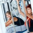 Women at the gym exercising — Stock Photo #7769168