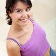 Fit woman smiling - Stock Photo