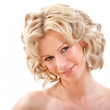 Woman portrait smiling — Stockfoto