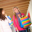 Friends shopping — Foto Stock
