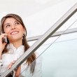 Business woman on the phone - Foto Stock