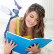 Woman studying at home — Stock Photo