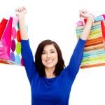 femme commerçante heureuse — Photo
