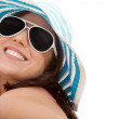 Foto Stock: Summer woman smiling