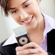 Business woman textning — Stockfoto