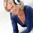 Woman listening to music — Stock Photo #7769491