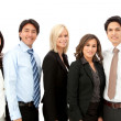 Stock Photo: Business group in a row